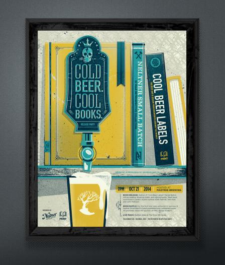 Cold Beer Cool Books Print